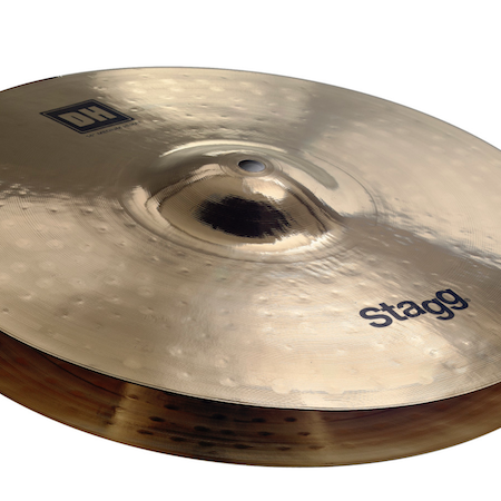 "Stagg 14"" Dual Hammered Medium Hi Hats"