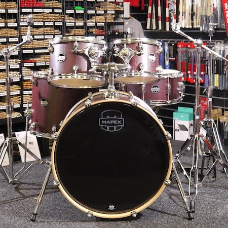 "Mapex Mars Rock Fusion 22"" Kit (5pc) in Bloodwood with Hardware"