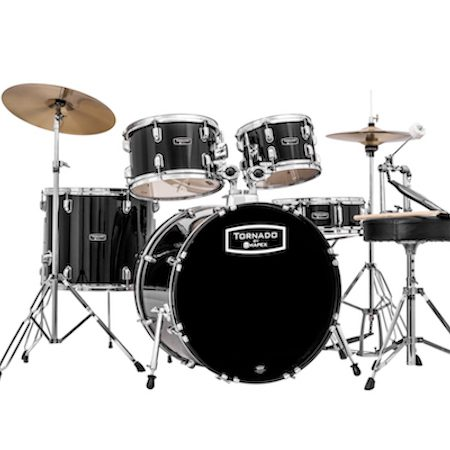 "Mapex Tornado 22"" Fast Sizes Starter (5pc Kit) in Black"