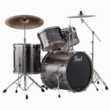 "Pearl Export 22"" Kit (5pc) in Smokey Chrome with Cymbals & Hardware Pack"