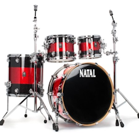 Natal Cafe Racer (4pc Shell Pack) in Black Sparkle with Red Sparkle Band