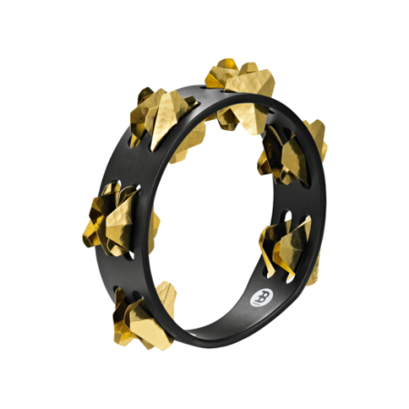 Meinl Compact Wood Tambourine, Hand Hammered Brass Jingles