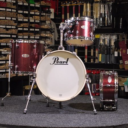 "Pearl Midtown 16"" Shell Pack (4pc) in Black Cherry Glitter"