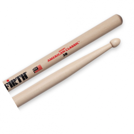 Vic Firth 2B American Classic Wood Tip Drumsticks