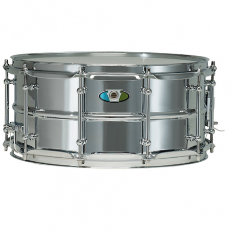 "Ludwig Supralite 14"" x 6.5"" Steel Snare Drum"