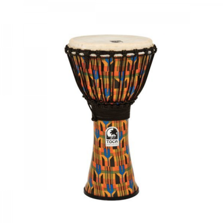 "Toca 10"" Freestyle Kente Rope Tuned Djembe"