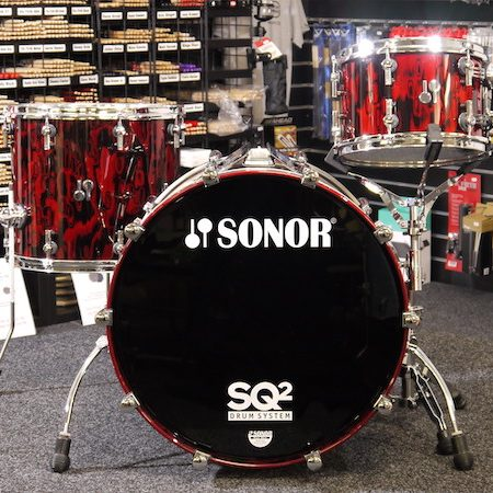 "Sonor SQ2 22"" Shell Pack (3pc) in Red Tribal"