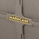 """Hardcase 22"""" Coloured Bass Drum Case in Granite with Wheels & Fully Lined"""