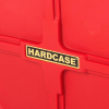 """Hardcase 22"""" Coloured Bass Drum Case in Red with Wheels & Foam Pads"""