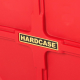"Hardcase 22"" Coloured Bass Drum Case in Red with Wheels & Foam Pads"