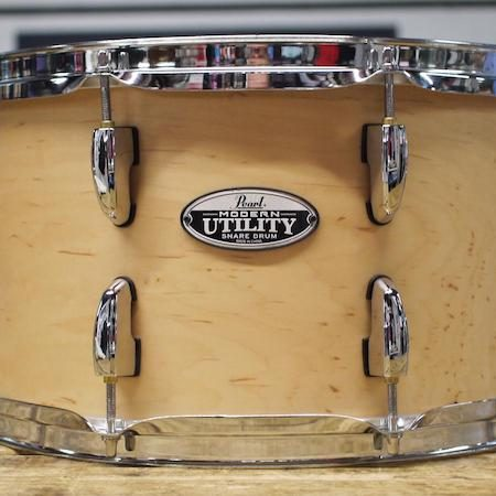 "Pearl Modern Utility 14"" x 8"" Maple Snare Drum in Matte Natural"