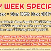 Drum Depot 6th Birthday Week Specials