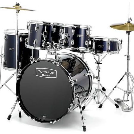 "Mapex Tornado Compact/Junior 18"" Starter Kit (5pc) in Blue with Hardware and Cymbals"