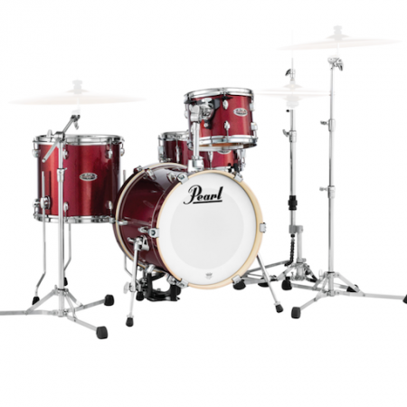 """Pearl Midtown 16"""" Shell Pack (4pc) in Black Cherry Glitter"""