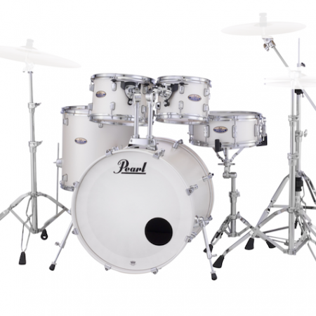 Pearl Decade Maple (5pc kit) with Hardware in White Satin Pearl