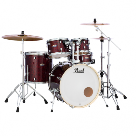 Pearl Decade Maple (5pc kit) with Hardware in Crimson Galaxy Flake