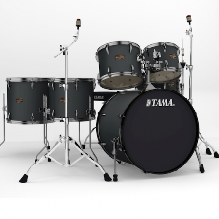 """Tama Imperialstar 22"""" Kit (6pc) in Blacked Out Black with Hardware"""