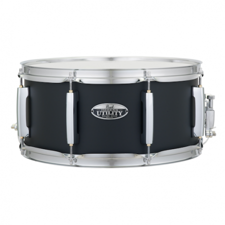 "Pearl Modern Utility 14"" x 6.5"" Maple Snare Drum in Satin Black"