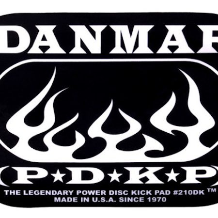 Danmar Double Bass Drum Impact Pad with Flame