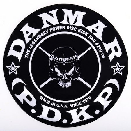 Danmar Single Bass Drum Impact Patch with Skull