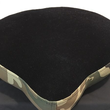 Pork Pie Big Boy Drum Throne Camouflage with Black Top with Throne Base