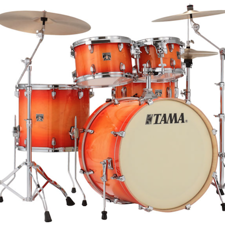 "Tama Superstar Classic 22"" Shell Pack (5pc) in Tangerine Lacquer Burst"