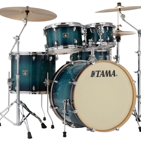 "Tama Superstar Classic 22"" Shell Pack (5pc) in Blue Lacquer Burst"