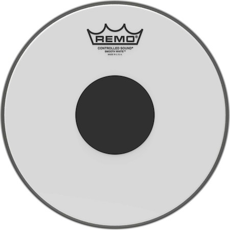 Remo Controlled Sound Smooth White Black Dot Drum Head