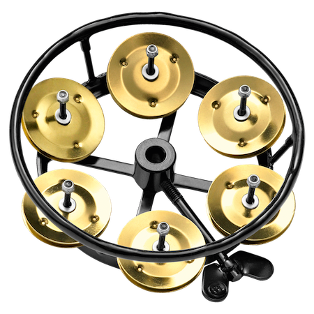 Meinl Hi-Hat Tambourine with Brass Jingles in Black