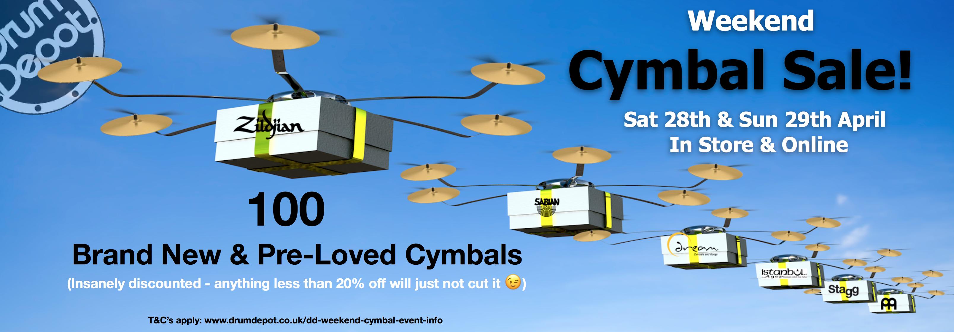 DD Weekend Cymbal Sale!