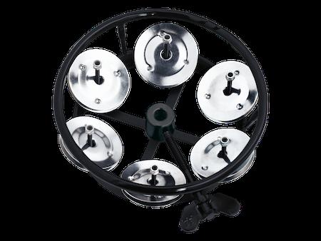 Meinl Hi-Hat Tambourine with Steel Jingles in Black