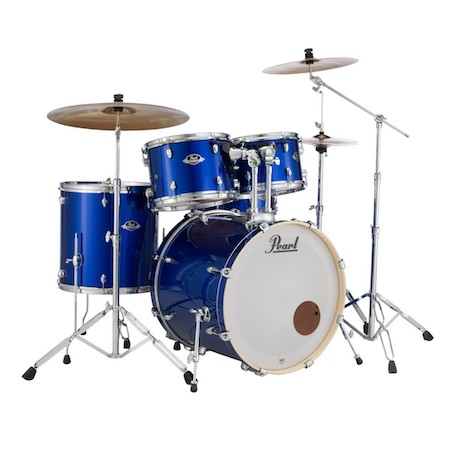 "Pearl Export 22"" Kit (5pc) in High Voltage Blue with Cymbals & Hardware Pack"
