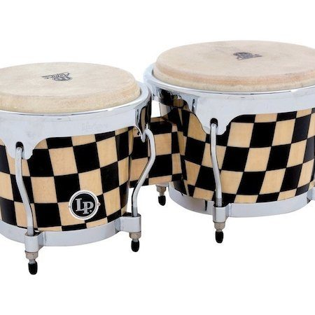 LP Aspire Accent Bongos in Checkboard Finish
