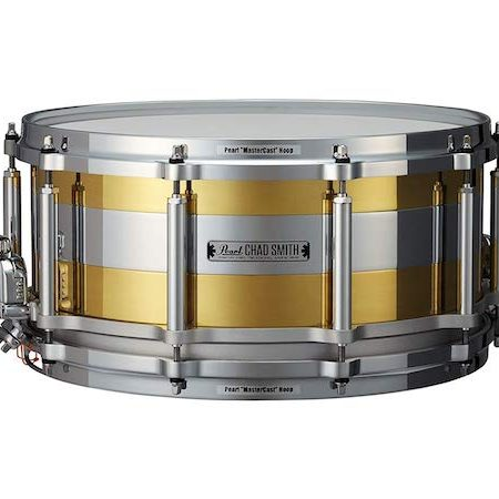 "Pearl Signature Chad Smith 14"" x 6.5"" Limited Edition Tricolon Free Floater Snare Drum"