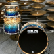 "Pork Pie USA Custom 22"" Shell Pack (3pc) in Blue Fade Dip"