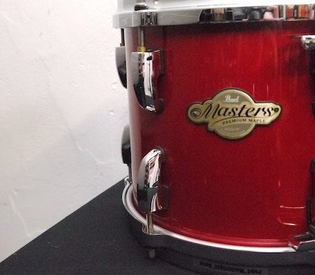 """Pearl Masters Premium Maple 10"""" x 8"""" Tom in Red Pearl"""