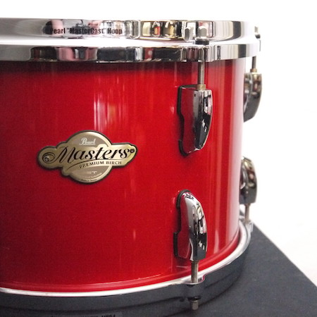 """Pearl Masters Premium Birch 12"""" x 8"""" Tom in Red Pearl"""