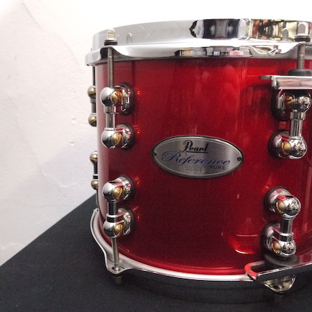 "Pearl Reference Pure 10"" x 8"" Tom in Red Metallic"