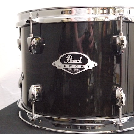 "Pearl Export 12"" x 8"" Tom in Black Smoke"