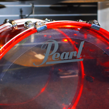 "Pearl Crystal Beat 22"" x 16"" Bass Drum in Ruby Red"