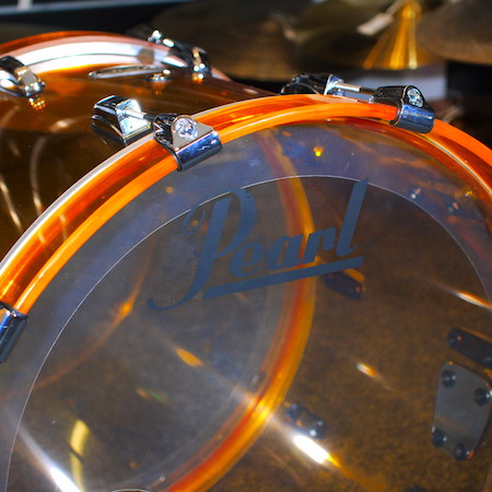 "Pearl Crystal Beat 20"" x 15"" Bass Drum in Tangerine Glass"