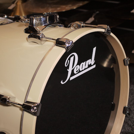 "Pearl Vision Birch 20"" x 18"" Bass Drum in Ivory"