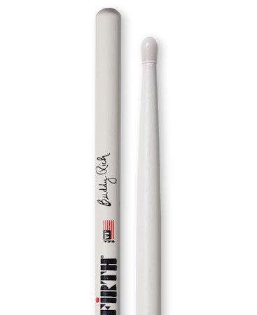 Vic Firth Signature Series Buddy Rich 100 Year Logo Nylon Stick in White