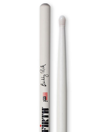 Vic Firth Signature Series Buddy Rich 100 Year Logo Nylon Stick in White