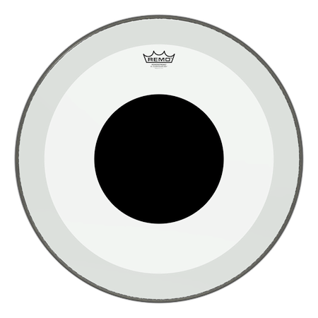 Remo Powerstroke 3 Clear Black Dot Bass Drum Head