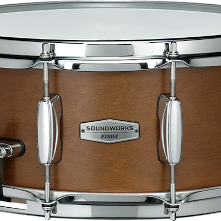 "Tama SOUNDWORKS 14"" x 6"" Kapur Snare Drum in Matte Brown"