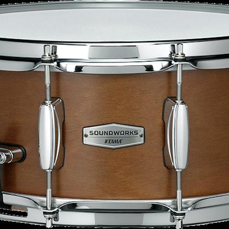 "Tama SOUNDWORKS 14"" x 6"" Kapur Snare Drum in Matte Brown"