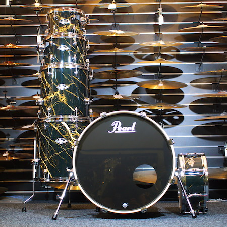 """Pearl Limited Edition Export 22"""" Kit (6pc) in Black and Gold Marble with Hardware"""