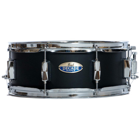 "Pearl Decade Maple 14"" x 5.5"" Snare Drum in Satin Slate Black"