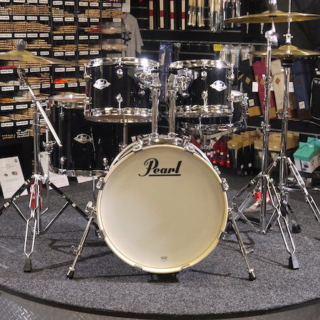 "Pearl Export 18"""" Kit (5pc) in Jet Black with Cymbals & Hardware Pack"